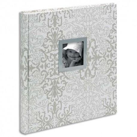 EXACOMPTA Album 300 photos CACHEMIRE (60 pages ivoires). 32x29cm. Couverture noire+encart personnalisable