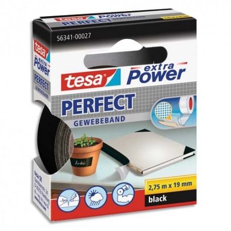 TESA Extra Power Perfect Noir. Réparations précis et résistance aux conditions extrêmes. 2,75m x 19 mm