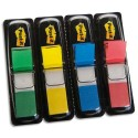 POST-IT Set de 4x35 index neutre couleur classique: rouge,vert,bleu,jaune format 12x44mm 24926