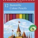 Crayon de couleur Faber Castell CHÂTEAU. Etui de 12, 24 ou 48 couleurs assorties