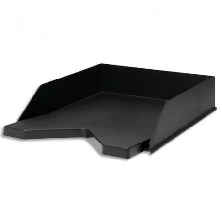 JALEMA Corbeille à courrier RE-SOLUTION en PP recyclé. Dim: L25,6 x H6,5 x P33,5 cm. Coloris noir