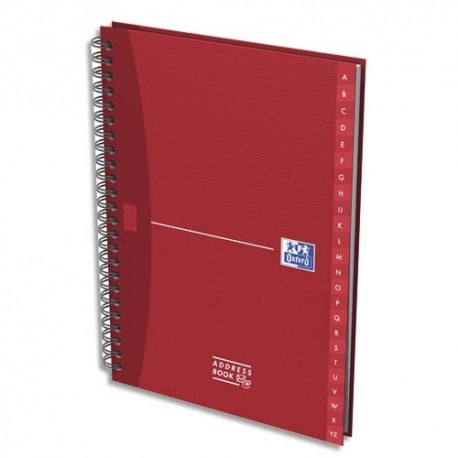 Cahier r pertoire reliure int grale format 21x29 7 cm 144 pages adress book oxford office - Cahier oxford office book ...