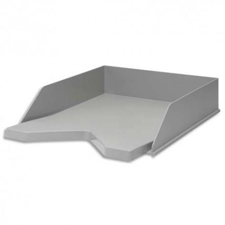JALEMA Corbeille à courrier RE-SOLUTION en PP recyclé. Dim: L25,6 x H6,5 x P33,5 cm. Coloris gris