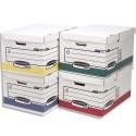 Archivage BANKERS BOX - Conteneur SYSTEM ouverture sur le dessus, montage automatique, carton recyclé assortis