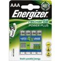 ENERGIZER blister de 4 accu power+ aaa LR03 700mah E300132600