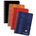 CLAIREFONTAINE Carnet spirale 100 pages 9,5x14cm 5x5. Couvertures carte assortie