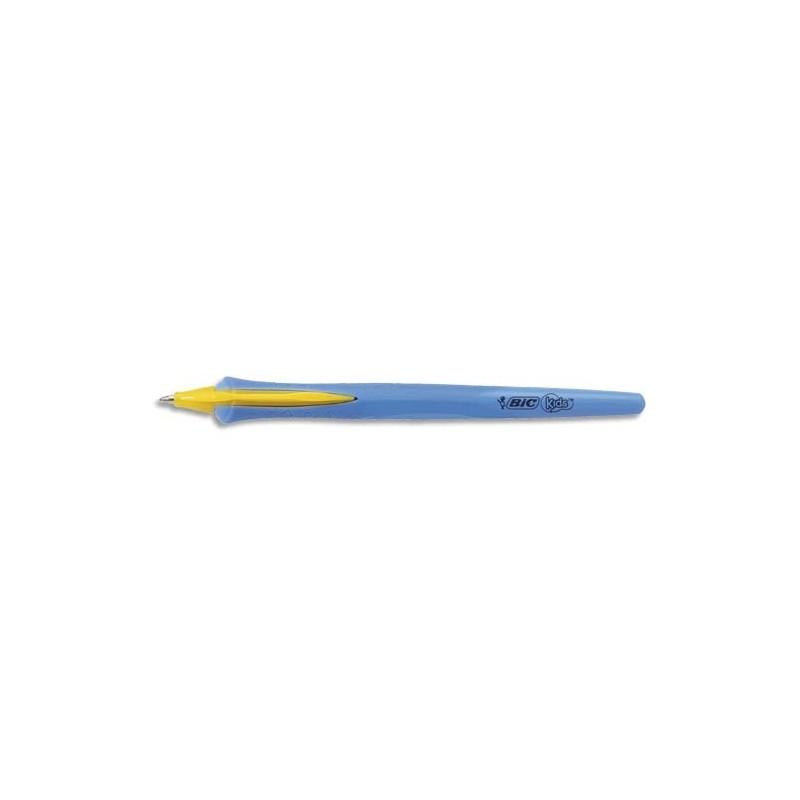 BIC Stylo bille r/étractable KIDS BEGINNER Twist BLEU Pte /Ø1mm Encre Bleue