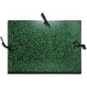 EXACOMPTA Carton à dessin Annonay avec 3 paires de cordons marbré vert