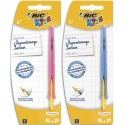 BIC Blister 1 stylo bille CLIC BEGINNERS. Pointe large. Corps bleu ou rose gaucher/droitier
