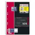 Feuilles simples petits carreaux (technologie réglure SOS NOTES) 21x29.7 (A4) perforées blanche 400 pages papier 90g Oxford