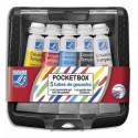 Gouache en tube pocket box en plastique 5 tubes de gouache scolaire 10ml Coloris assortis Lefranc & Bourgeois