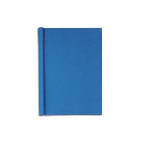 """MAUL Chemise de présentation en carton rembordé effet """"Lin"""". Capacité 200 feuilles A4. Coloris bleu."""