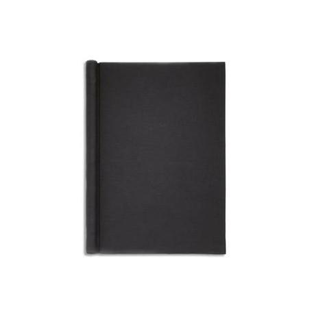 """MAUL Chemise de présentation en carton rembordé effet """"Lin"""". Capacité 200 feuilles A4. Coloris noir."""