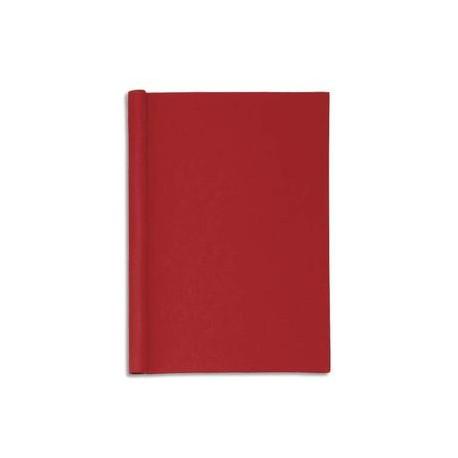 """MAUL Chemise de présentation en carton rembordé effet """"Lin"""". Capacité 200 feuilles A4. Coloris rouge."""