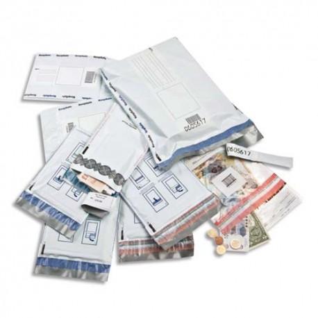 KEEPSAFE Boîte de 20 Pochettes en polyéthylène spécial Sécurité - Format C5 16,5 x 26 cm blanches