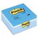 POST-IT Cube 3 couleurs assortis bleu, 400 feuilles 76x76 mm