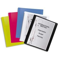 Porte vues ELBA - Protège-documents FLEXAM 30 vues à pochettes amovibles en polypropylène 7/10 assortis opaque