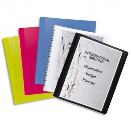 Porte vues ELBA - Protège-documents FLEXAM 60 vues à pochettes amovibles en polypropylène 7/10 assortis opaque