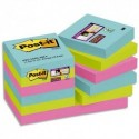 POST IT Lot de 12 blocs notes Super Sticky Post-it® Collection MIAMI  47,6x47,6 mm, 90 feuilles.