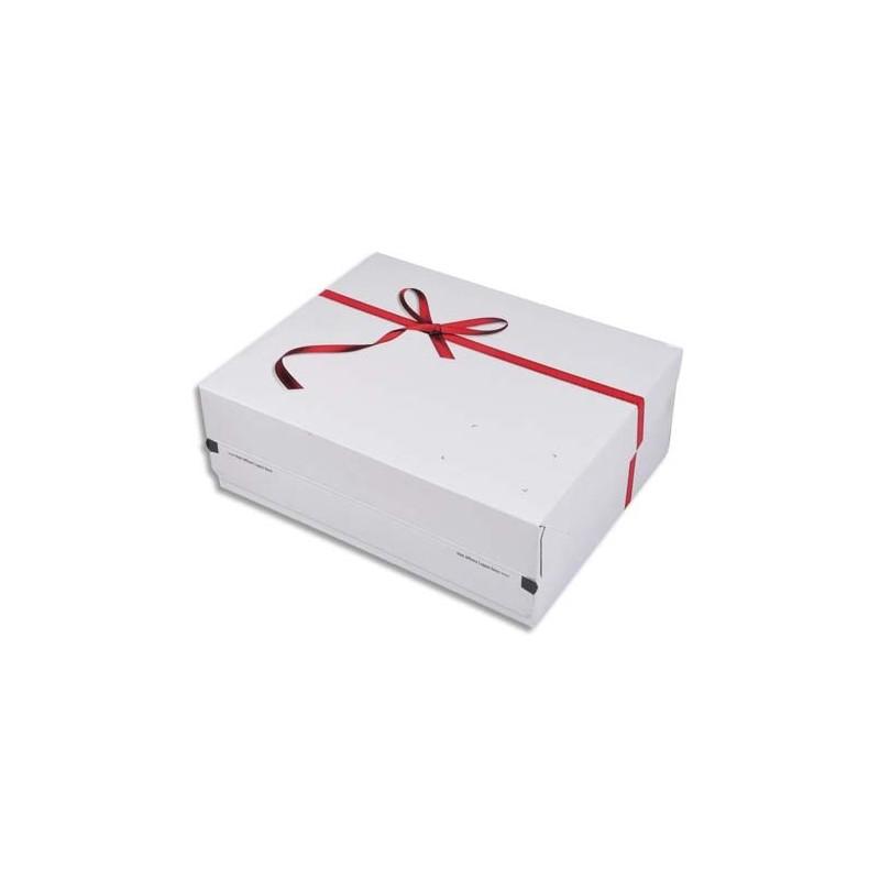 colompac bo te d 39 exp dition cadeau blanche imprim rouge fermeture autocollante l24 1 x h9 4 x. Black Bedroom Furniture Sets. Home Design Ideas