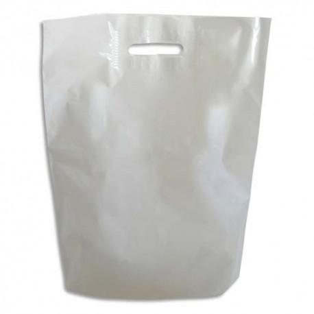EMBALLAGE Paquet de 1600 Sacs en plastique blanc 50 microns - Dimensions : L22 x H30 cm