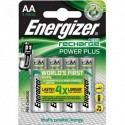 ENERGIZER Blister de 4 piles AA HR6 Power plus recheargeable 2000 mAh E300626700