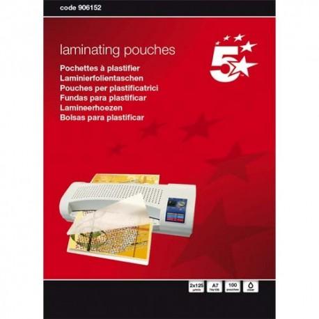 5 ETOILES Boîte de 100 pochettes à plastifier A7, 2x125µ 960152