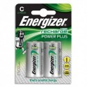ENERGIZER Blister de 2 piles C HR14 Power plus rechargeable 2500 mAh E300321800