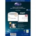 LA COURONNE Paquet de 200 enveloppes blanc insertion mécanique 80g, 162x229mm fenetre 45x100mm NF/PEFC