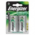 ENERGIZER Blister de 2 piles D HR20 Power plus rechargeable 2500 mAh E300322000