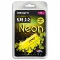 INTEGRAL Clé USB 3.0 Neon 128Go Jaune INFD128GBNEONYL3.0 + redevance