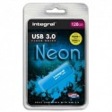 INTEGRAL Clé USB 3.0 Neon 128Go Bleue INFD128GBNEONB3.0 + redevance
