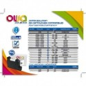 OWA Cartouche compatible machine à affranchir Neopost IJ90/1300 7200268D/4127178T. Capacité 175ml