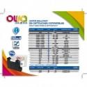 OWA Cartouche compatible machine à affranchir PitneyBowes DM210/390 DE6181.Capacité 2x84ml/2000p