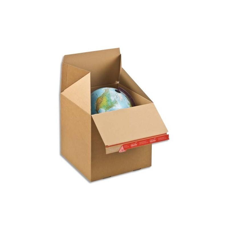 colompac carton d 39 exp dition eurobox l brun simple cannelure fermeture adh sive l39 4 x h38 7 x. Black Bedroom Furniture Sets. Home Design Ideas