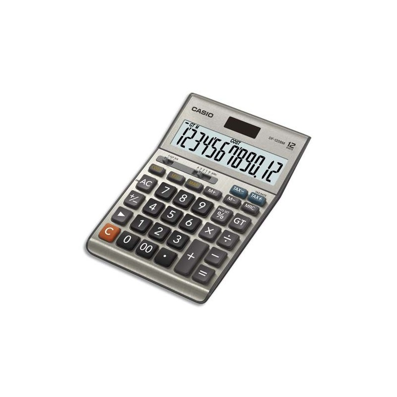 casio calculatrice de bureau 12 chiffres df 120bm direct papeterie. Black Bedroom Furniture Sets. Home Design Ideas