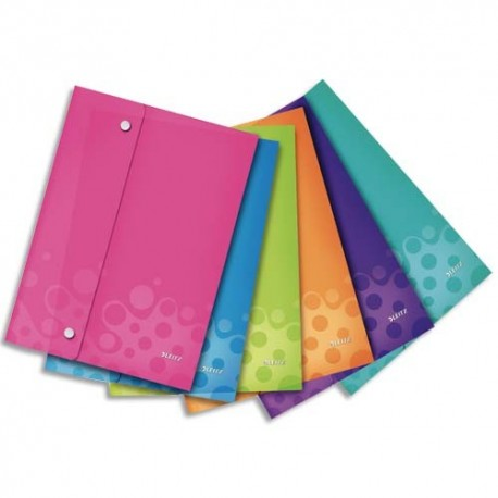 ELBA Pochette enveloppe à double pression WOW PP opaque 2/10è, format A4, coloris assortis