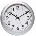 UNILUX Horloge Wave radio-piloté à pile AA non fournie, coloris gris métallisé. Ø 30,5 cm