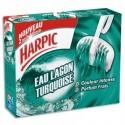 HARPIC Etui de 2 Blocs WC eau lagon turquoise, colore nettoie désodorise
