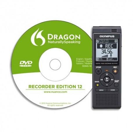 OLYMPUS Enregistreur numérique VN741PC+ logiciel DNS12 4go V415111BE030