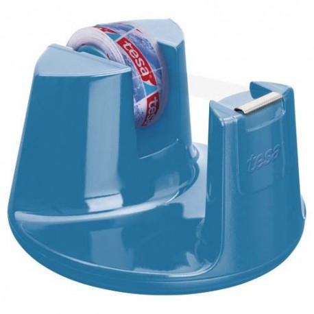 TESA Dévidoir Compact bleu avec un ruban d'adhésif invisible 19mm x 33m