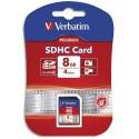 VERBATIM Carte SDHC 8Go Premium Class 10 600X 49190/43961+redevance