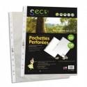SECO Sachet de 100 pochettes perforées PP grainé 5/100ème, 100% biodégradable et recyclable