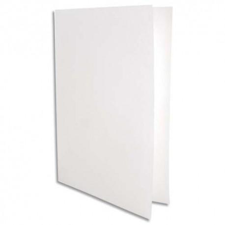 NEUTRE Paquet de 25 chemises papier permanent 90g pour format A4. Coloris blanc