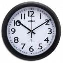 UNILUX Horloge Wave radio-piloté à pile AA non fournie, coloris noir. Ø 30,5 cm