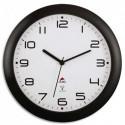 ALBA Horloge mural radio-piloté Hornew, coloris noir. Diamètre 30 cm