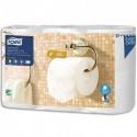 TORK Paquet de 6 Rouleaux Papier toilette Premium Aquatube 3 plis blanc 170 feuilles Ecolabel
