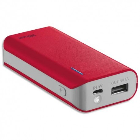 TRUST URBAN Chargeur PRIMO 4400 mAh rouge 21226