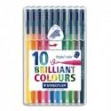 STAEDTLER Pochette de 10 feutres de coloriage Triplus.