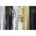 CLAIREFONTAINE Rouleau papier cadeaux 80g 2mx0,7mm décors assortis noir/argent/or